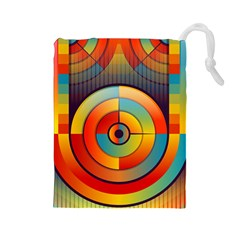 Abstract Pattern Background Drawstring Pouches (Large)