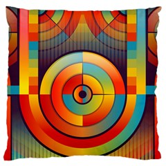 Abstract Pattern Background Large Flano Cushion Case (Two Sides)
