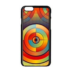 Abstract Pattern Background Apple Iphone 6/6s Black Enamel Case