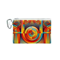 Abstract Pattern Background Canvas Cosmetic Bag (S)
