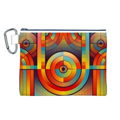 Abstract Pattern Background Canvas Cosmetic Bag (l)