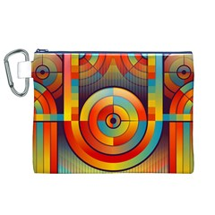 Abstract Pattern Background Canvas Cosmetic Bag (XL)