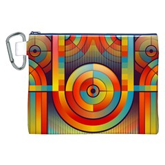 Abstract Pattern Background Canvas Cosmetic Bag (xxl)