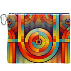 Abstract Pattern Background Canvas Cosmetic Bag (XXXL)