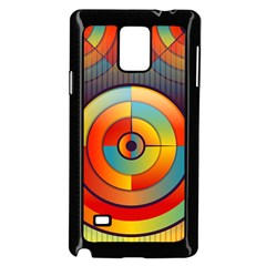 Abstract Pattern Background Samsung Galaxy Note 4 Case (Black)