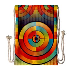 Abstract Pattern Background Drawstring Bag (large)