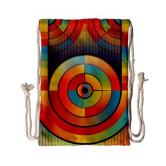 Abstract Pattern Background Drawstring Bag (small)
