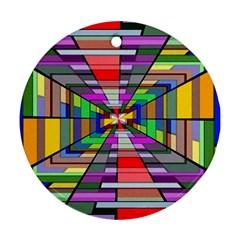 Art Vanishing Point Vortex 3d Ornament (Round)