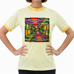 Art Vanishing Point Vortex 3d Women s Fitted Ringer T-Shirts
