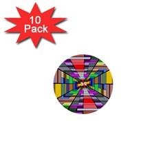 Art Vanishing Point Vortex 3d 1  Mini Buttons (10 Pack)
