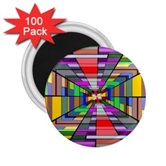 Art Vanishing Point Vortex 3d 2 25  Magnets (100 Pack)