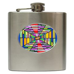 Art Vanishing Point Vortex 3d Hip Flask (6 oz)