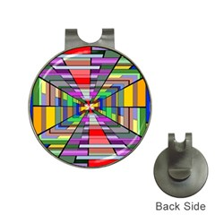 Art Vanishing Point Vortex 3d Hat Clips with Golf Markers