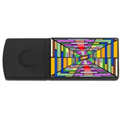 Art Vanishing Point Vortex 3d USB Flash Drive Rectangular (4 GB)