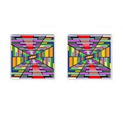 Art Vanishing Point Vortex 3d Cufflinks (square)