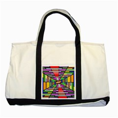 Art Vanishing Point Vortex 3d Two Tone Tote Bag