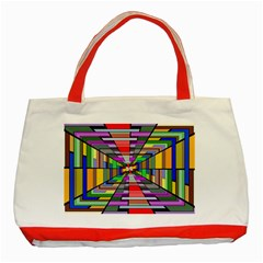 Art Vanishing Point Vortex 3d Classic Tote Bag (Red)