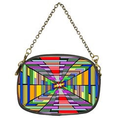 Art Vanishing Point Vortex 3d Chain Purses (one Side)
