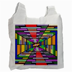 Art Vanishing Point Vortex 3d Recycle Bag (One Side)