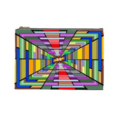 Art Vanishing Point Vortex 3d Cosmetic Bag (Large)