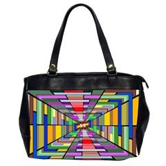 Art Vanishing Point Vortex 3d Office Handbags (2 Sides)