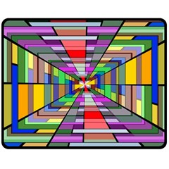 Art Vanishing Point Vortex 3d Fleece Blanket (Medium)