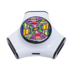 Art Vanishing Point Vortex 3d 3-Port USB Hub