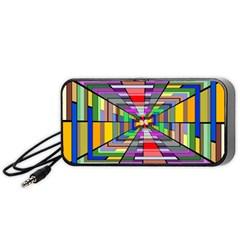 Art Vanishing Point Vortex 3d Portable Speaker (Black)