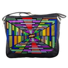 Art Vanishing Point Vortex 3d Messenger Bags