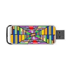 Art Vanishing Point Vortex 3d Portable Usb Flash (two Sides)