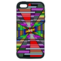 Art Vanishing Point Vortex 3d Apple Iphone 5 Hardshell Case (pc+silicone)