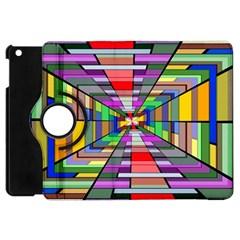 Art Vanishing Point Vortex 3d Apple Ipad Mini Flip 360 Case