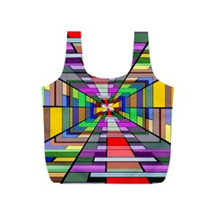 Art Vanishing Point Vortex 3d Full Print Recycle Bags (s)