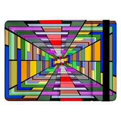 Art Vanishing Point Vortex 3d Samsung Galaxy Tab Pro 12 2  Flip Case