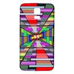 Art Vanishing Point Vortex 3d Samsung Galaxy S5 Back Case (white)