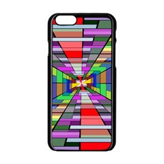 Art Vanishing Point Vortex 3d Apple Iphone 6/6s Black Enamel Case