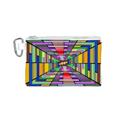 Art Vanishing Point Vortex 3d Canvas Cosmetic Bag (S)