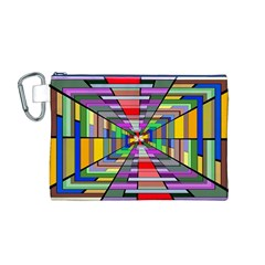 Art Vanishing Point Vortex 3d Canvas Cosmetic Bag (M)