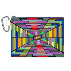 Art Vanishing Point Vortex 3d Canvas Cosmetic Bag (XL)