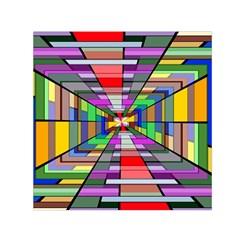 Art Vanishing Point Vortex 3d Small Satin Scarf (Square)