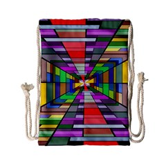 Art Vanishing Point Vortex 3d Drawstring Bag (Small)
