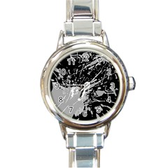 Art About Ball Abstract Colorful Round Italian Charm Watch