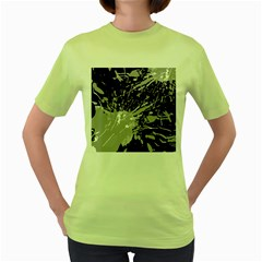 Art About Ball Abstract Colorful Women s Green T-Shirt