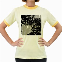 Art About Ball Abstract Colorful Women s Fitted Ringer T Shirts