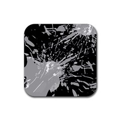 Art About Ball Abstract Colorful Rubber Square Coaster (4 pack)