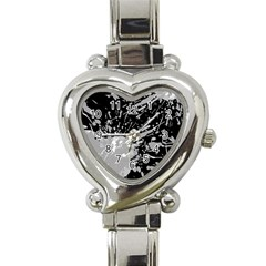 Art About Ball Abstract Colorful Heart Italian Charm Watch