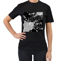 Art About Ball Abstract Colorful Women s T-Shirt (Black) (Two Sided)