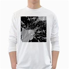 Art About Ball Abstract Colorful White Long Sleeve T-Shirts