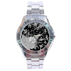 Art About Ball Abstract Colorful Stainless Steel Analogue Watch
