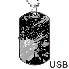 Art About Ball Abstract Colorful Dog Tag USB Flash (One Side)